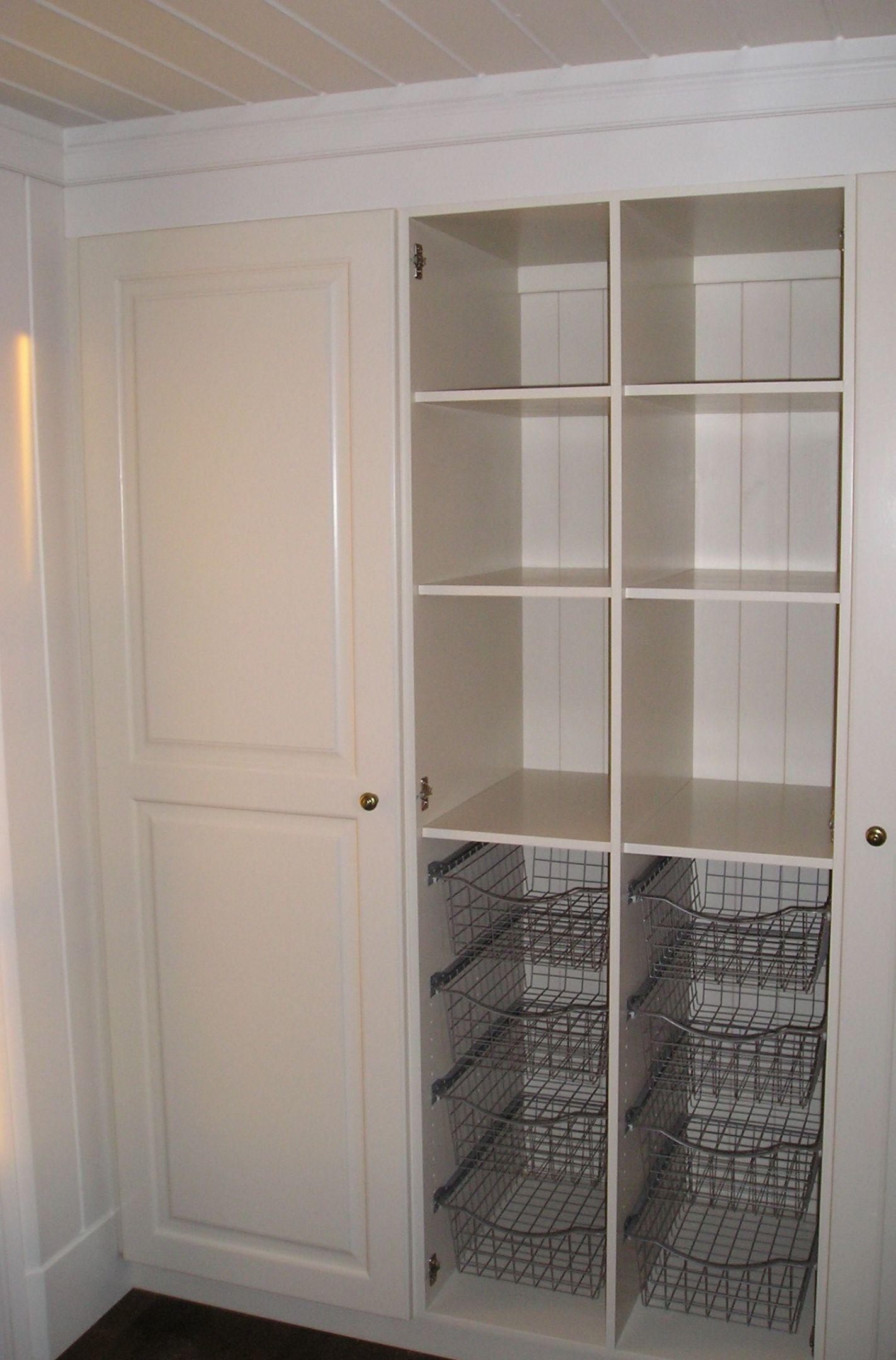 Garderobe uten dør